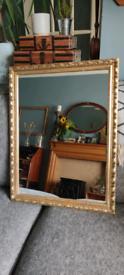 Vintage style gold gilt mirror