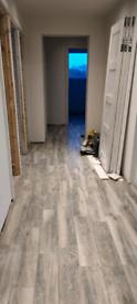 Ceramic floor tiles grey wood effect