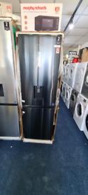Hisense dark steel fridge freezer new with warranty ready to go