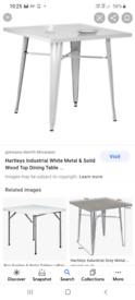 Hartleys grey Industrial dining table
