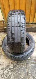 2 summer tyres