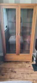6ft Solid Wood Display Cabinet (Harveys)