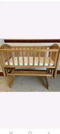 Wooden Swinging Crib.