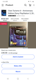 Gran turismo 6 anniversary edition Mint condition On ps3 /cash or swap