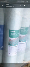 Roofshield roofing felt x3 surplus to requirements 80 per roll