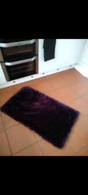 2 x Dark Purple Rugs Brand New