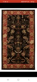 Large Black/Rust Persian Style Rug