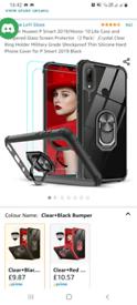 Huawei psmart 2019 phone case and glass screenprotector
