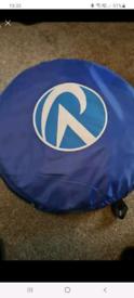 Portable toilet tent and toilet