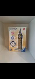 Ravensburger Big Ben 3D Jigsaw Puzzle - 216 Pieces.