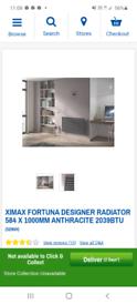 Designer Radiator with valves supplied