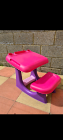 Pink table for kids