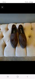Ladies brown suede shoes