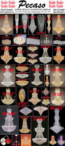 Crystal Chandeliers / Tax & Installation & Bulbs all Included