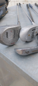 Set of irons minus putter 1 and 3 woods
