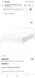 Ikea double bed with matress immaculate condition