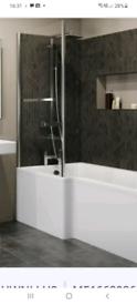 Bathtub shower Screen with Rail