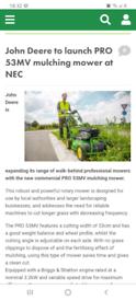 John deere pro 53mv lawnmower