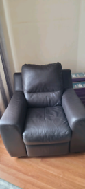 Leather reclining chair.