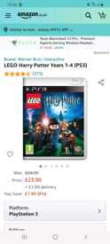LEGO HARRY POTTER YEARS / mint like new/ amazon selling for £23 pounds