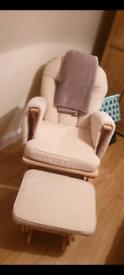 Nursing Glider Maternity Chair with Footrest Baby Rocking Nursery Seat