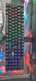 RGB mechanic keyboard and Gaming Mouse