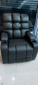 Delivery damaged Armchair Recliner Recliner Swivel Black free local de
