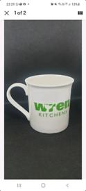 WREN KITCHEN limited edition white/green Coffee Kitchen Mug