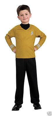 Rubies Star Trek Movie Child Gold Shirt Costume Size S (4 - 6 )