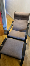 Ikea poang armchair and footstool