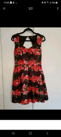Quiz - Size 14 retro style satin type dress. Worn once so like new!!