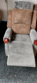 Fabric Recliner and riser Mobility Armchair free local delivery