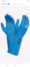Ansell Marigold Nitrile Food Gauntlet Gloves - blue - extra large