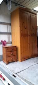 Pine wardrobe bedside table