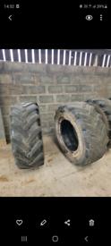 Tractor tyres x2