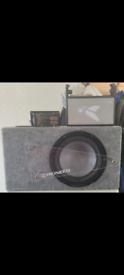Pioneer sub and Fli amp
