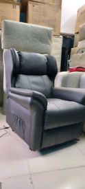 Black Electric Recliner and Riser Armchair ex display free local deliv
