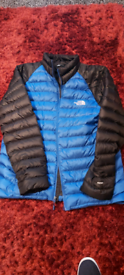 North face jacket black and blue size large