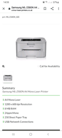 Samsung printer ML-2580N