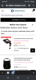 Icklebubba galaxy isofix base bnwob