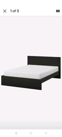 IKEA Malm double bed+ 4 storage drawers (mattress included)