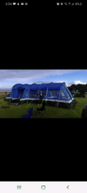 8 man tent and awning