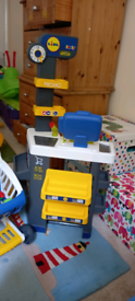 Kids Lidl shop with trolley and food