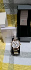 Brand new Armani two tone chronograph watch