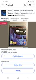 PS3 GAME / Gran turismo 6 anniversary edition / cash or swaps