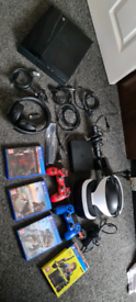 Ps4 and vr headset and 4 games