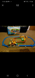 Thomas the tank engine and Terence deluxe action train track set