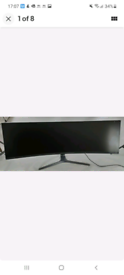 Samsung curved gaming monitor LC49RG90SSUXEN broken screen