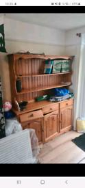 Pine Bookshelf sideboard combination