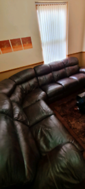 Electric recliner 6 seater sofa